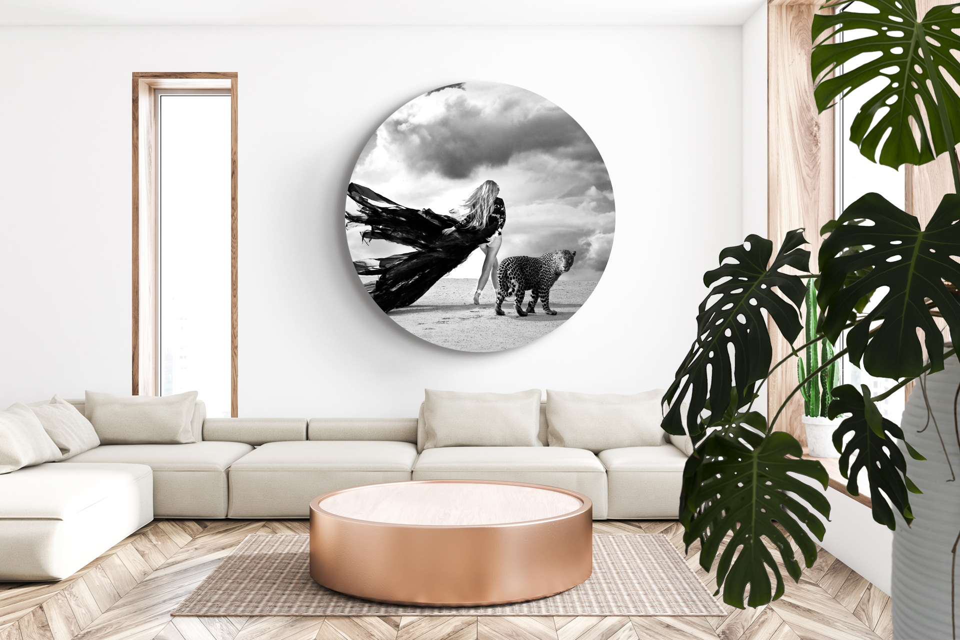 mirage in circle in living room
