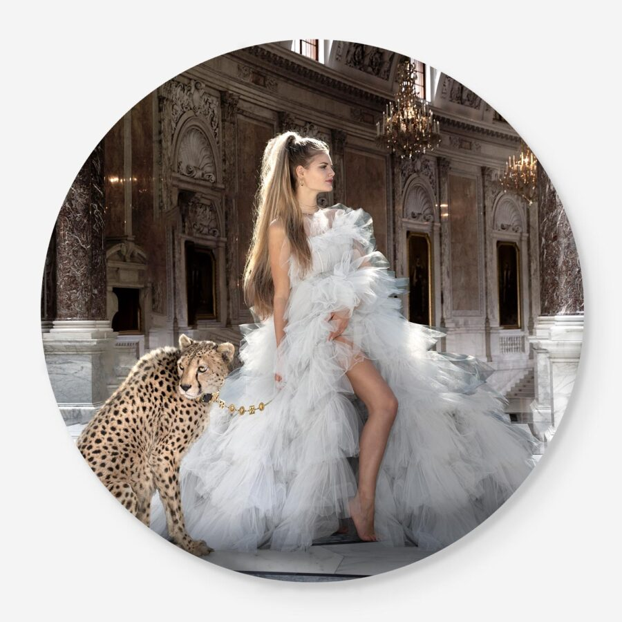 Vintage Glamour with cheetahs and dream dress